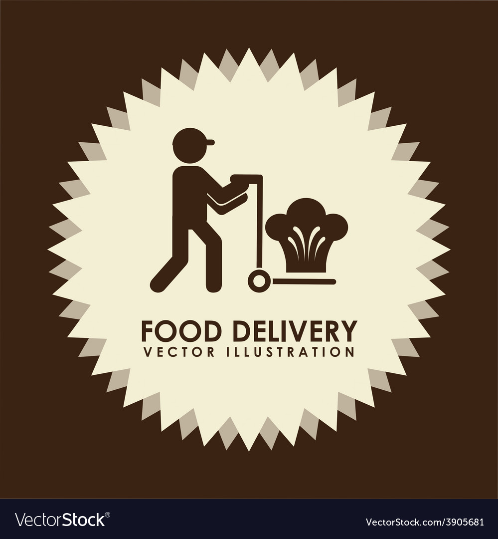 Food delivery design vector | Price: 1 Credit (USD $1)