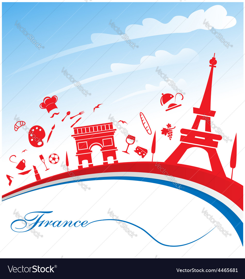 France background with flag vector | Price: 1 Credit (USD $1)