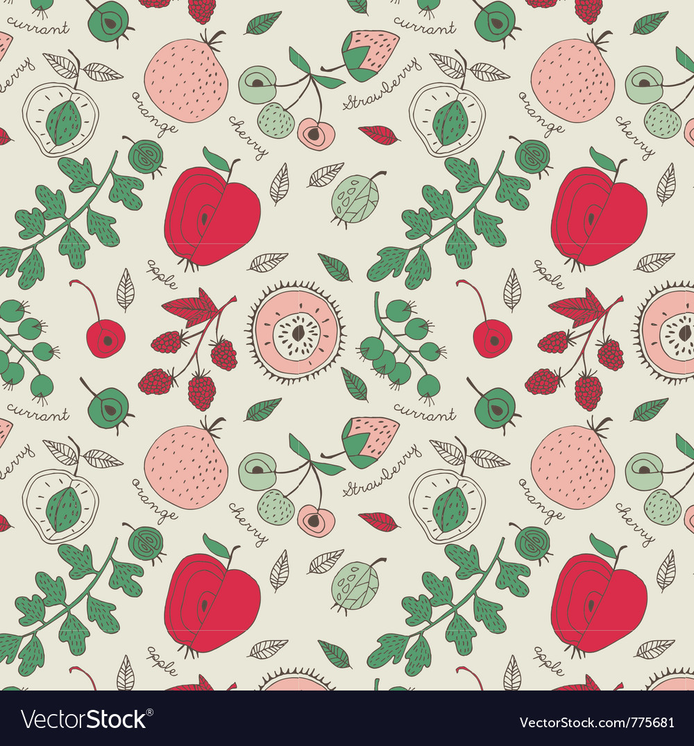 Fruit wallpaper background vector | Price: 1 Credit (USD $1)