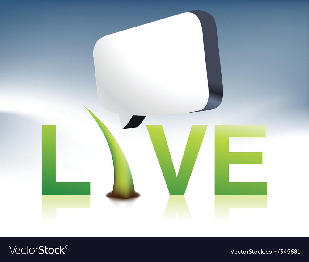 Live logo vector | Price: 1 Credit (USD $1)