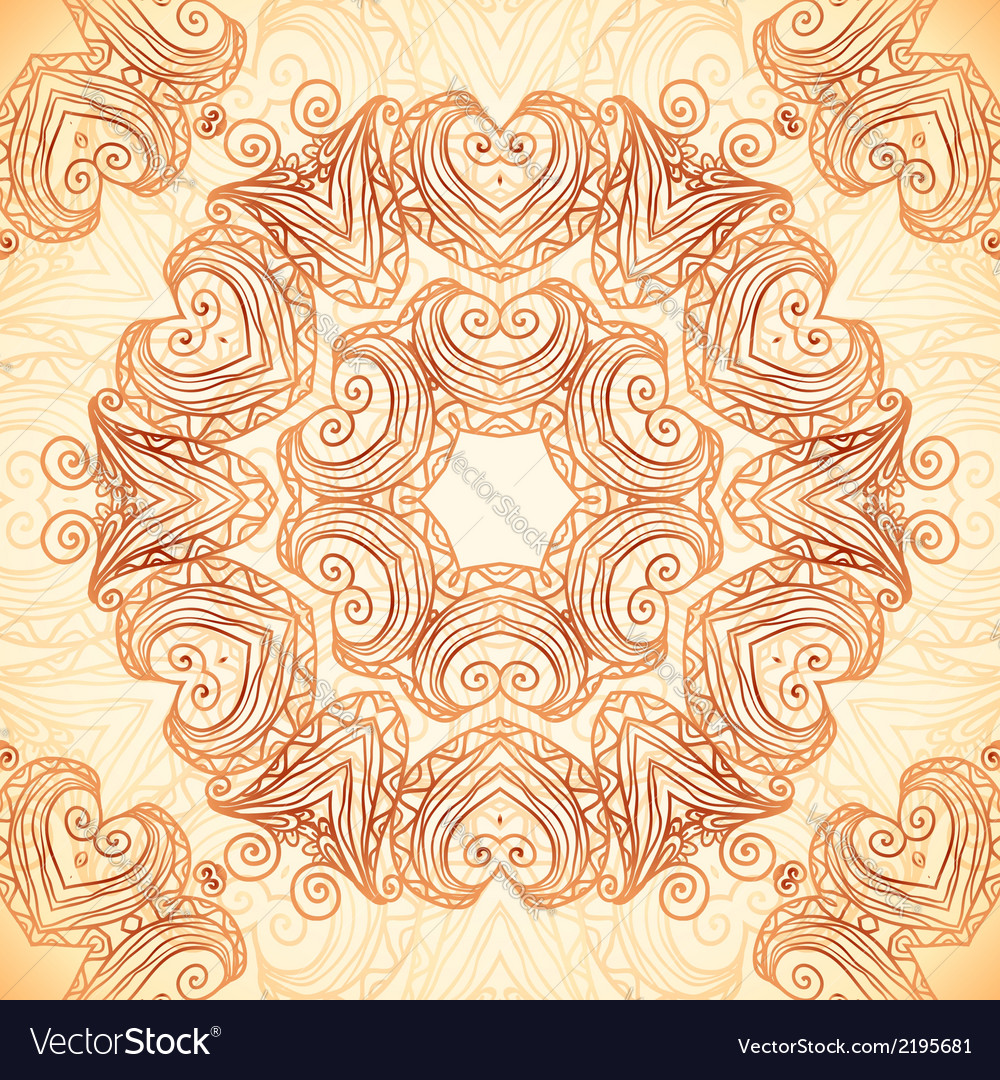 Ornate vintage template in indian mehndi style vector   Price: 1 Credit (USD $1)