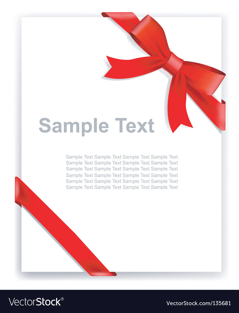 Tape and bow vector | Price: 1 Credit (USD $1)