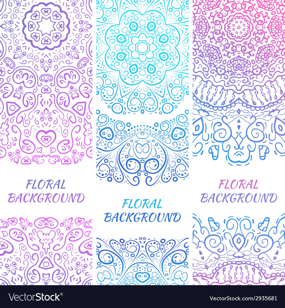 Tribal ethnic vintage banners for your cute vector