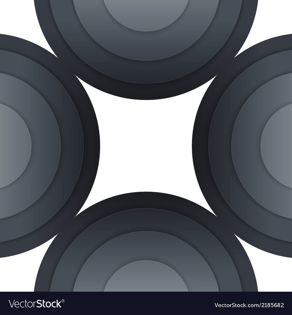 Abstract dark grey paper circles background vector | Price: 1 Credit (USD $1)