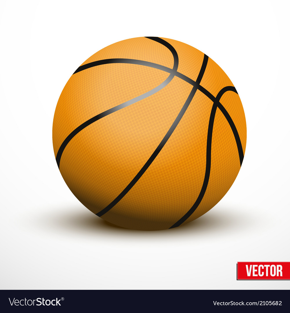 Basketball ball isolated on a white background vector | Price: 1 Credit (USD $1)