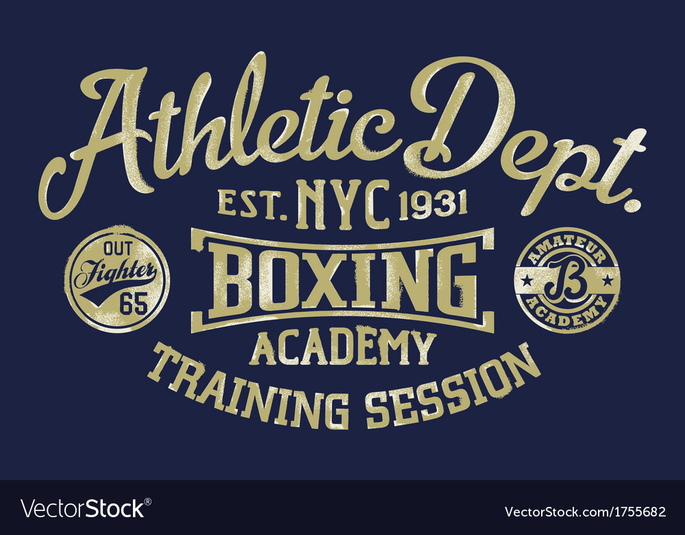 Boxing academy vector | Price: 1 Credit (USD $1)