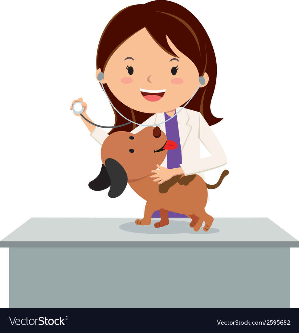 Cartoon veterinarian vector | Price: 1 Credit (USD $1)