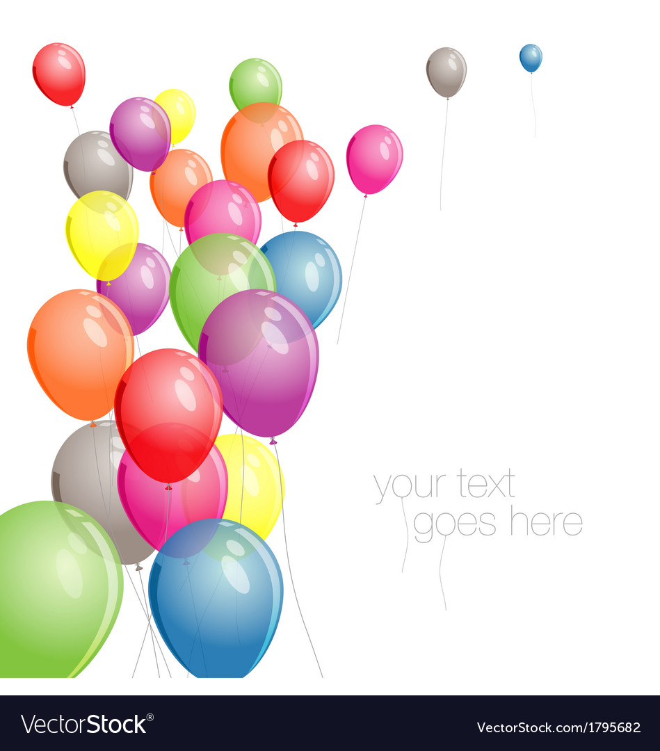 Colorful balloons background with copy space vector | Price: 1 Credit (USD $1)