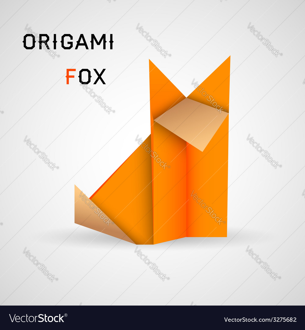 Fox origami vector | Price: 1 Credit (USD $1)