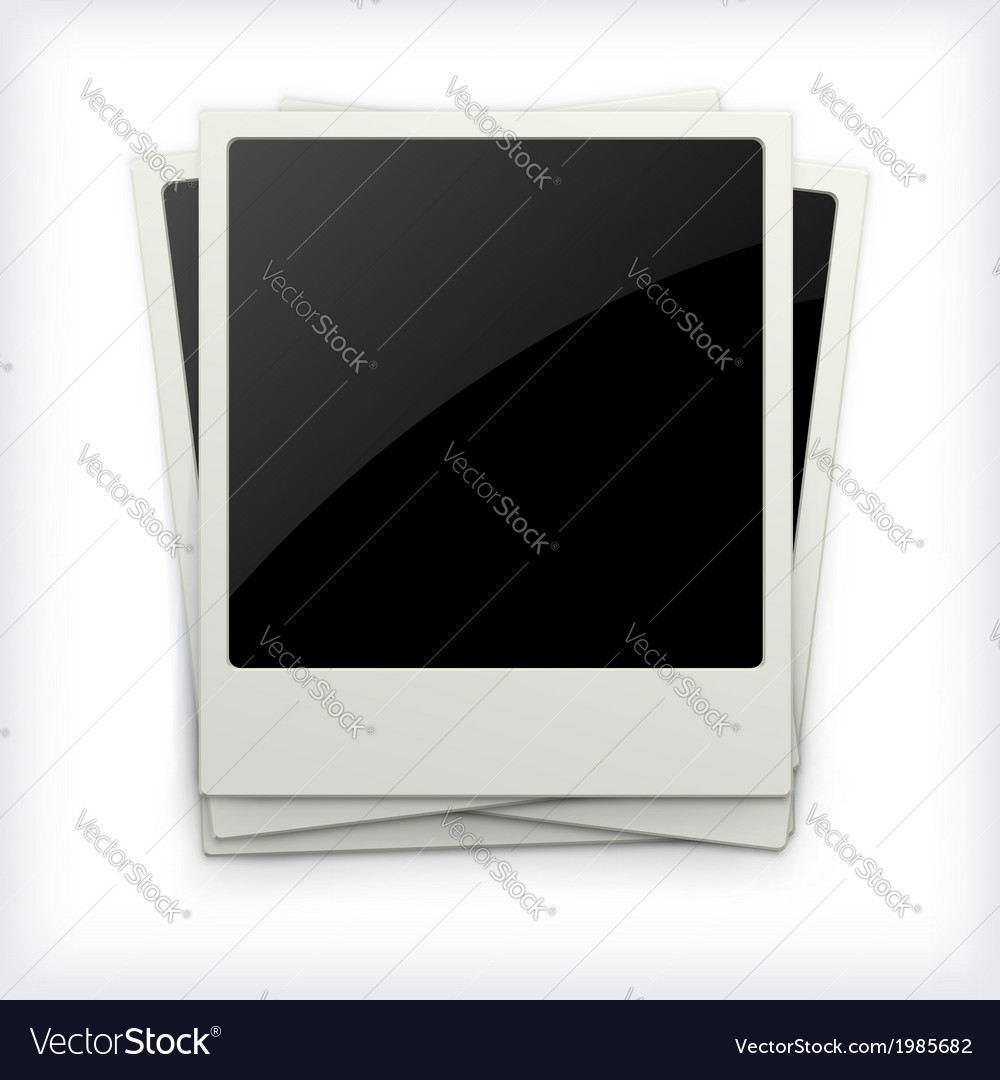 Polaroid photo frames on white background vector | Price: 1 Credit (USD $1)