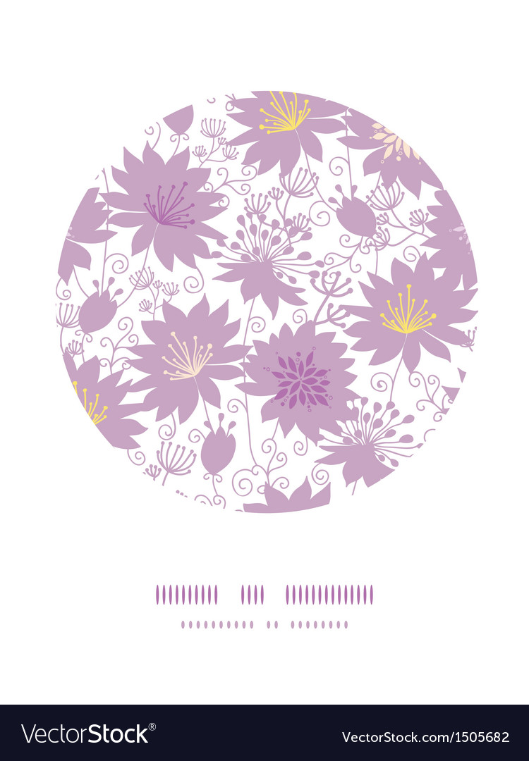 Purple shadow florals circle decor pattern vector | Price: 1 Credit (USD $1)