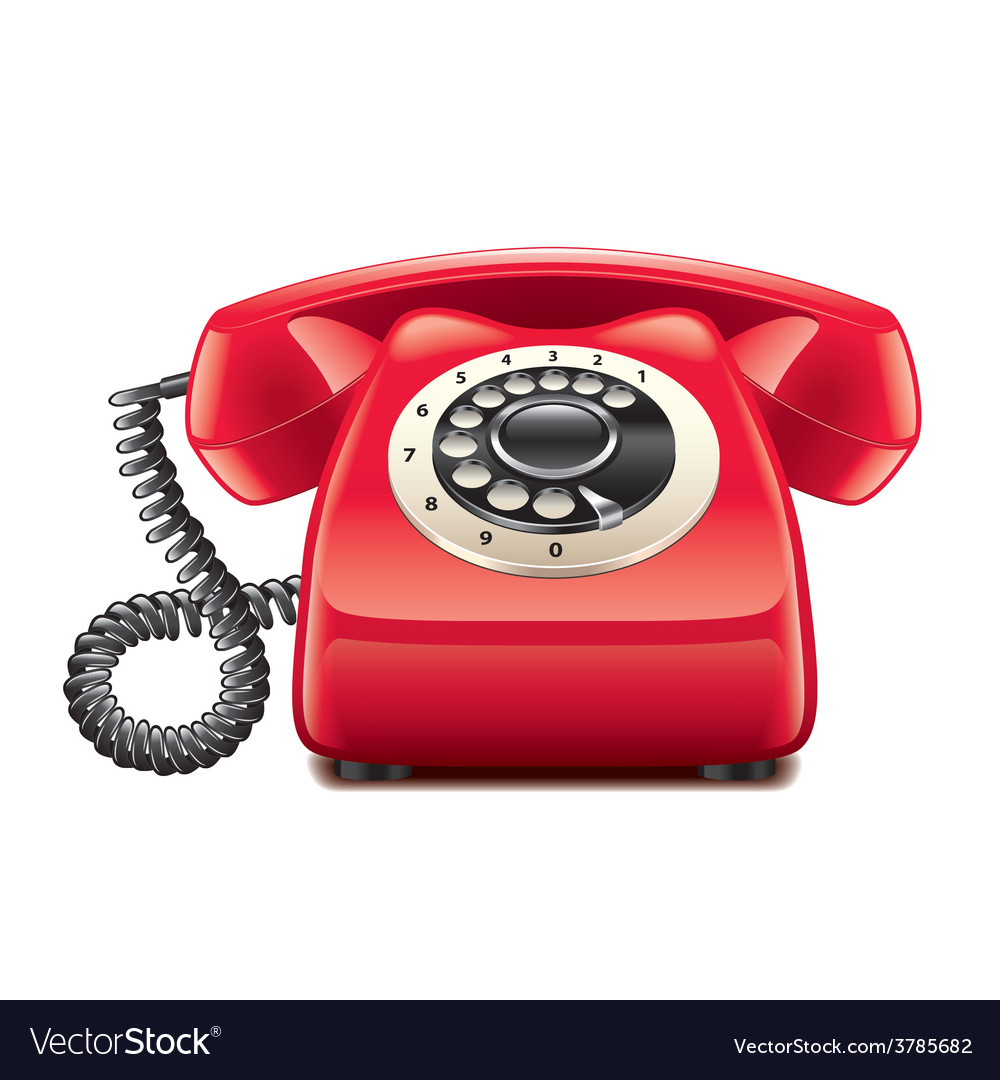 Retro phone isolated vector | Price: 3 Credit (USD $3)