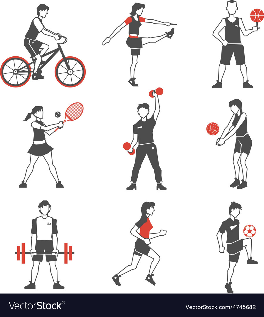 Sport people icon black vector | Price: 1 Credit (USD $1)