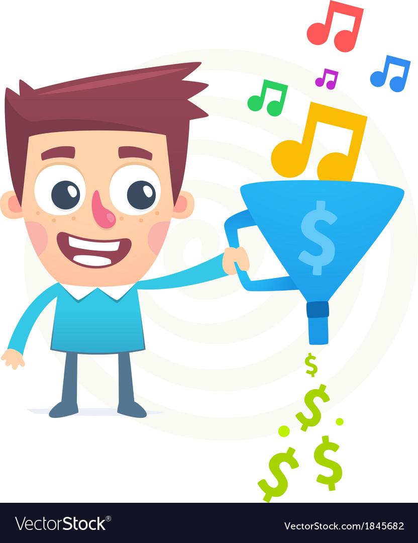 Successful composer vector | Price: 1 Credit (USD $1)