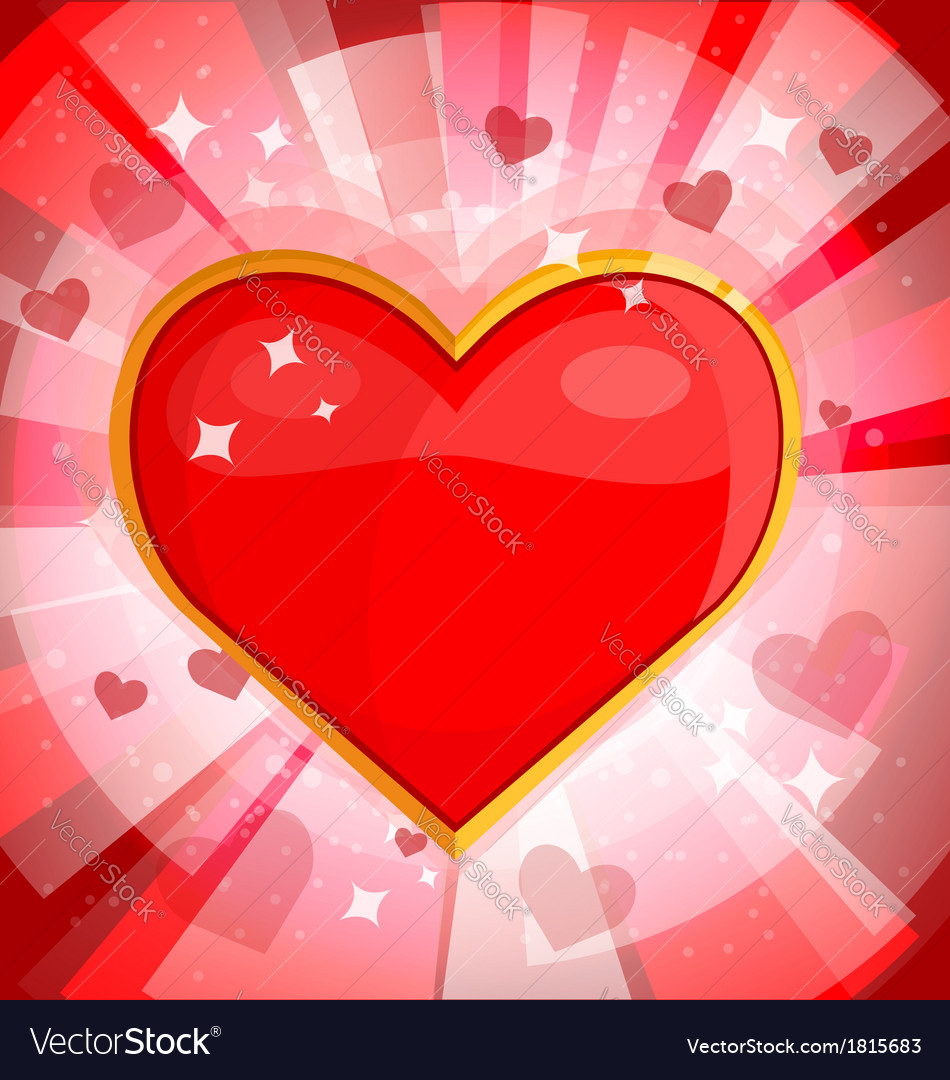 Bright background with heart 2 vector | Price: 1 Credit (USD $1)
