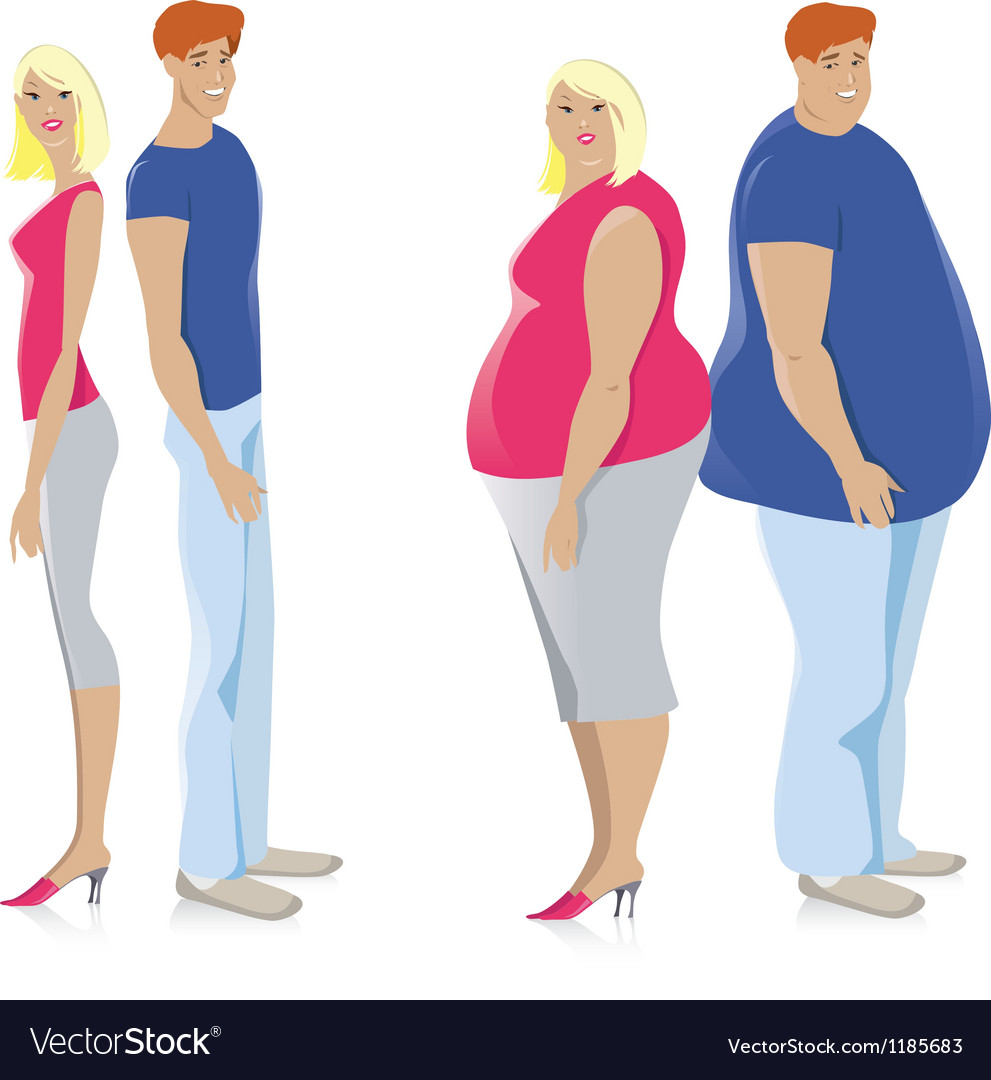 Dieting couple vector | Price: 1 Credit (USD $1)