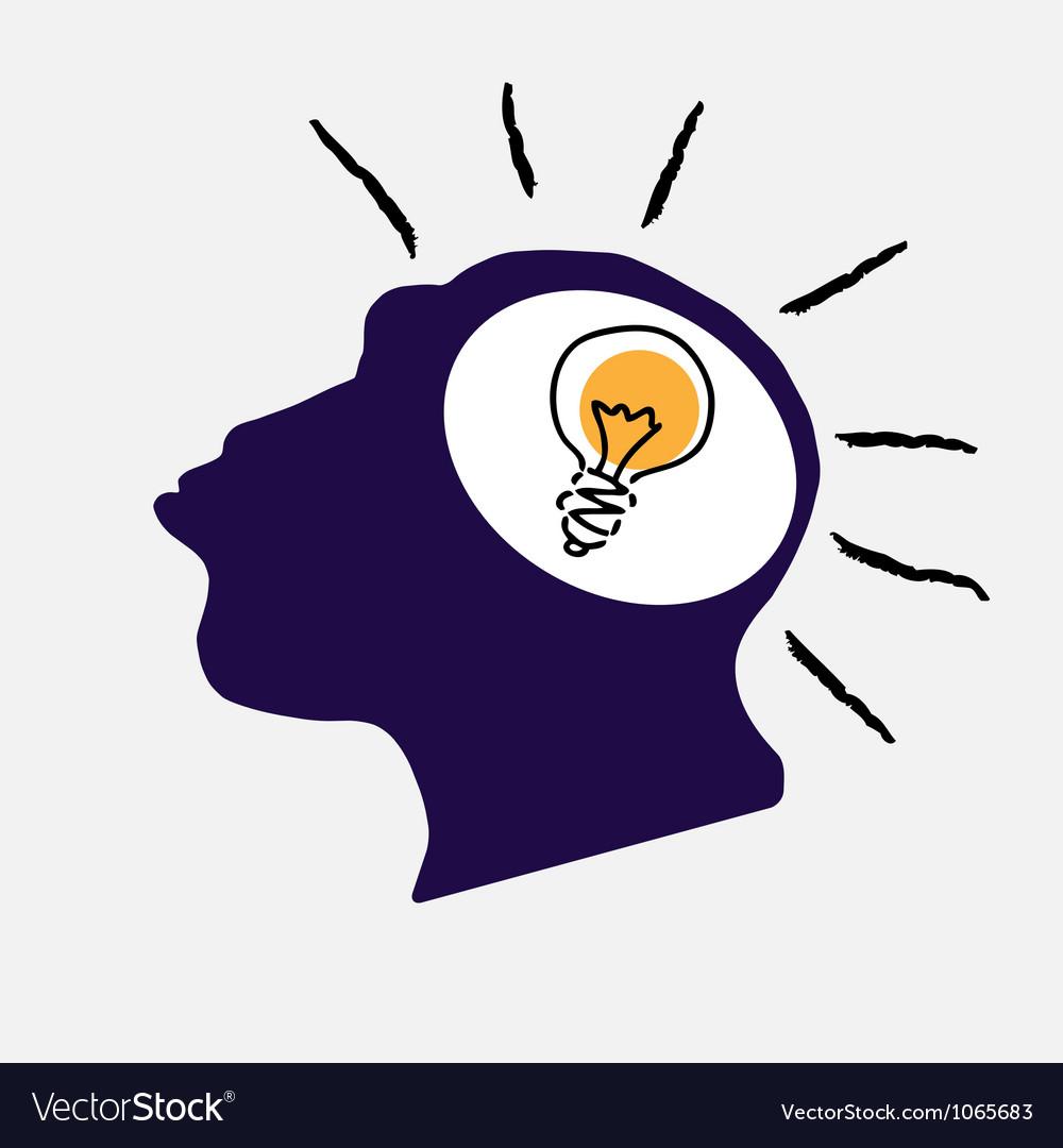 Idea bulb in stylized monkey head vector | Price: 1 Credit (USD $1)