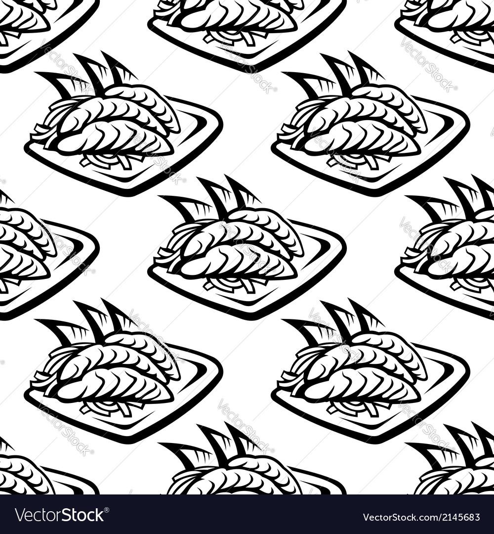 Japan food seamless pattern vector | Price: 1 Credit (USD $1)