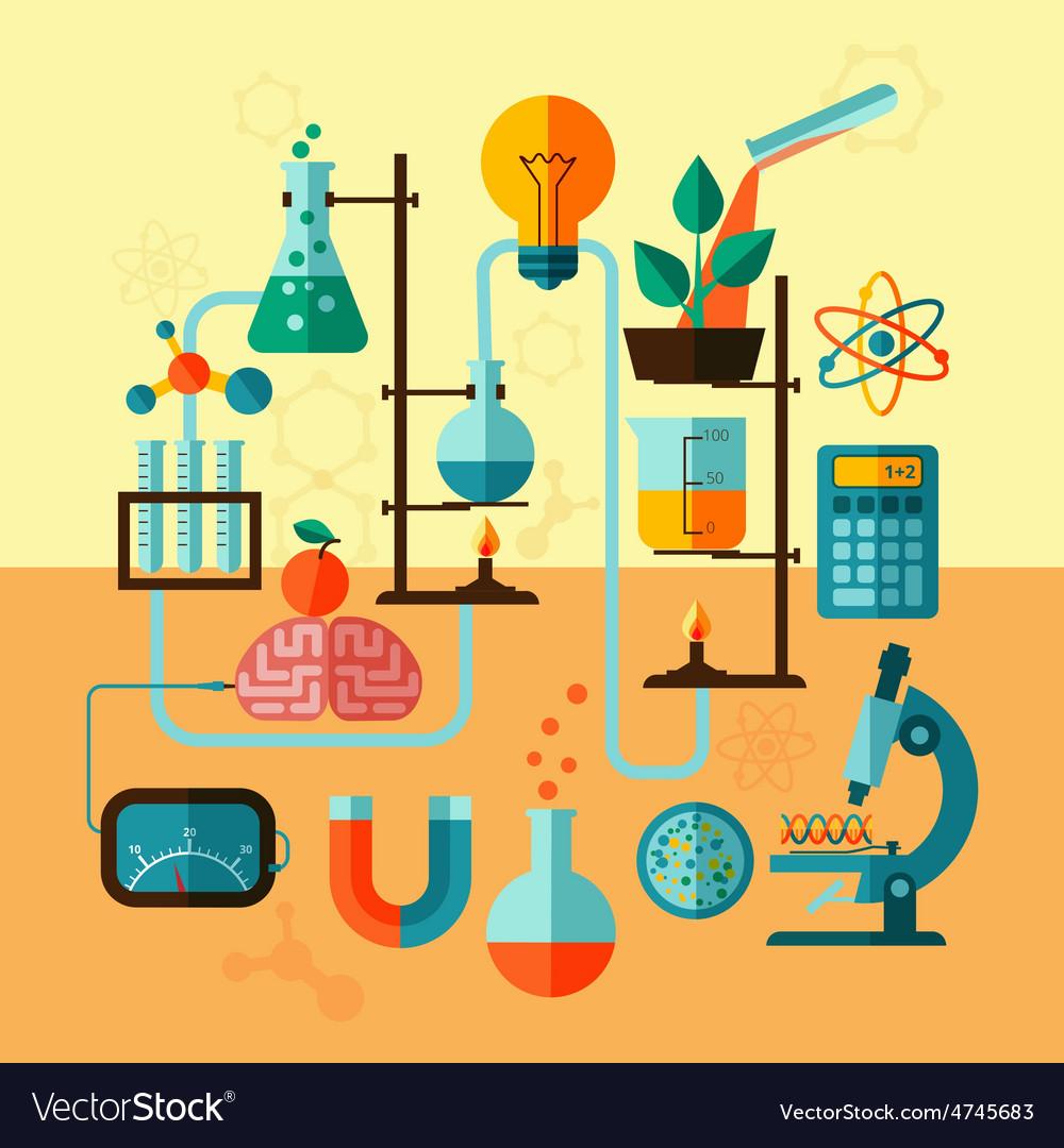 Scientific research laboratory template poster vector | Price: 1 Credit (USD $1)