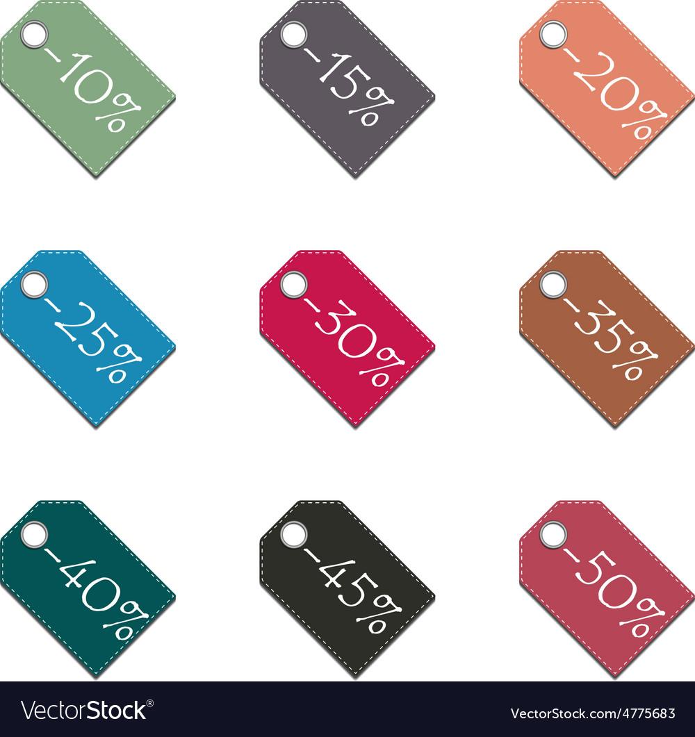 Set labels discounts vector | Price: 1 Credit (USD $1)