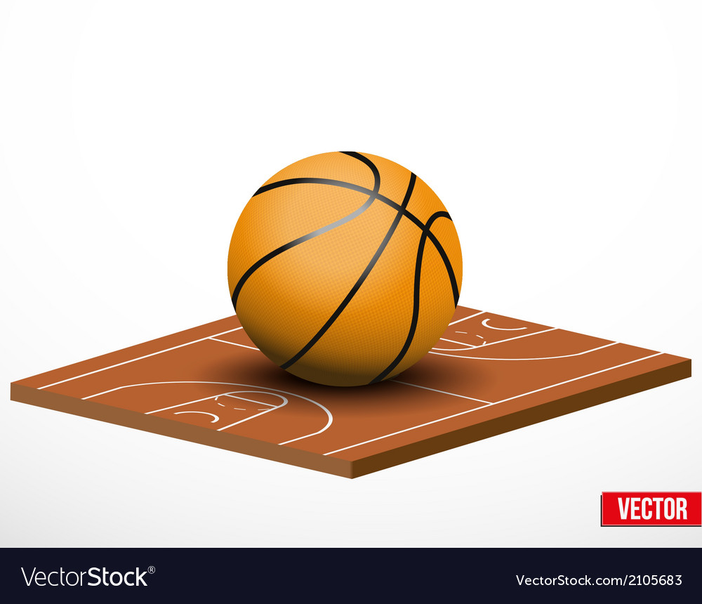 Symbol of a basketball game and field vector | Price: 1 Credit (USD $1)