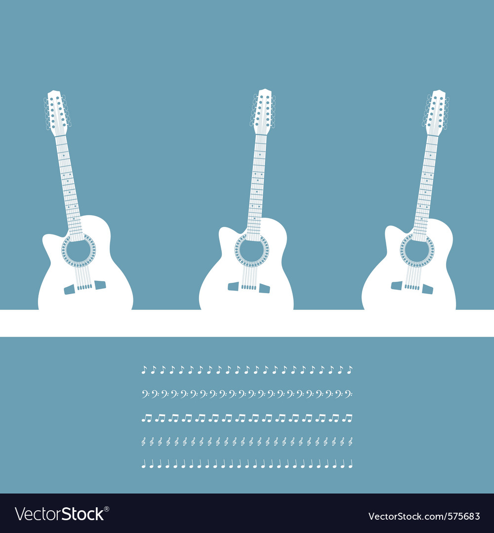 Three guitars vector | Price: 1 Credit (USD $1)