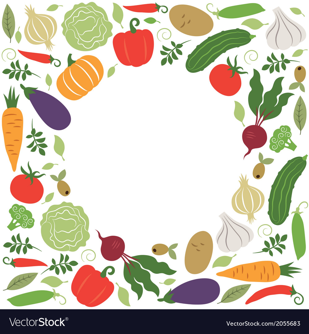 Vegetables  place for your text vector | Price: 1 Credit (USD $1)