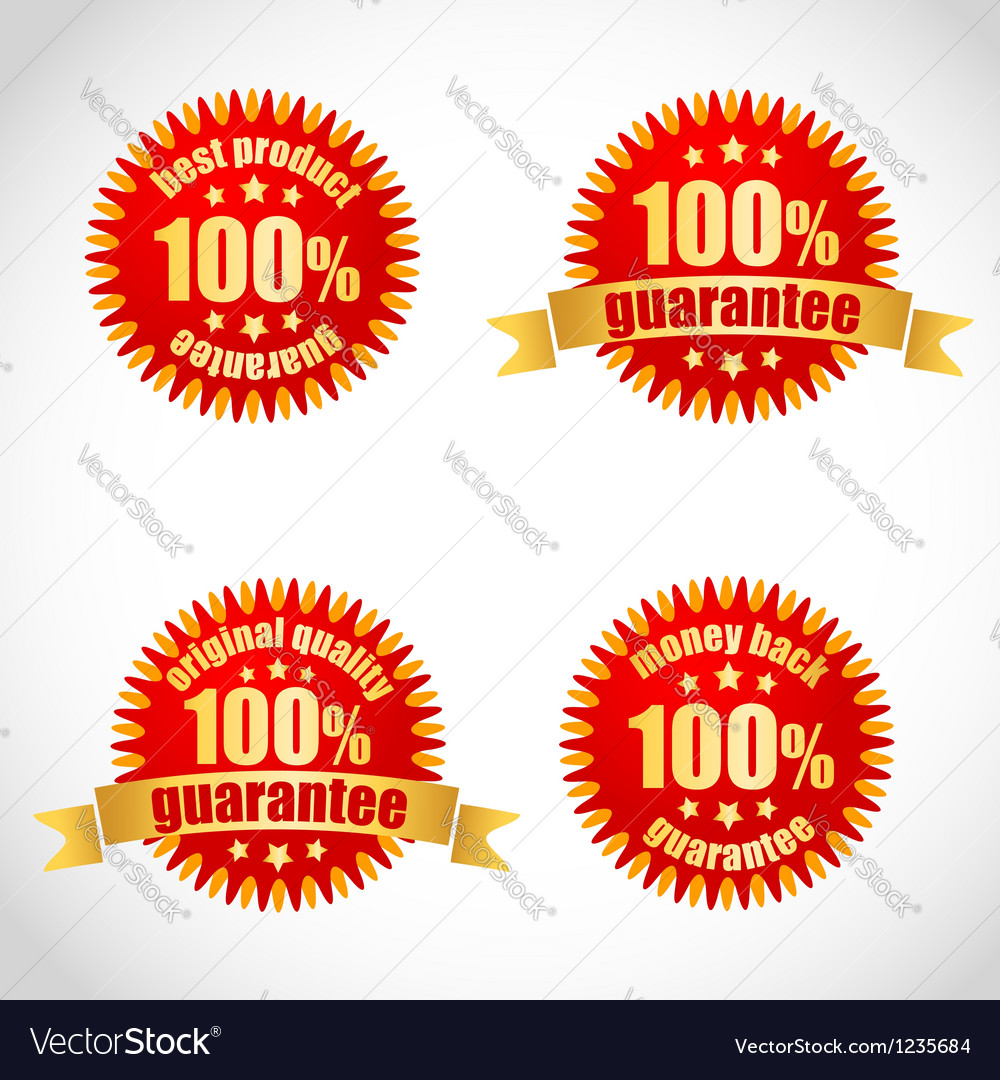 Best product guarantee label stickers vector | Price: 1 Credit (USD $1)