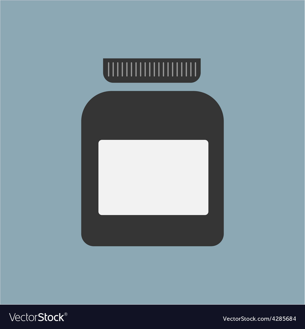 Blank medicine bottle isolated on background vector | Price: 1 Credit (USD $1)