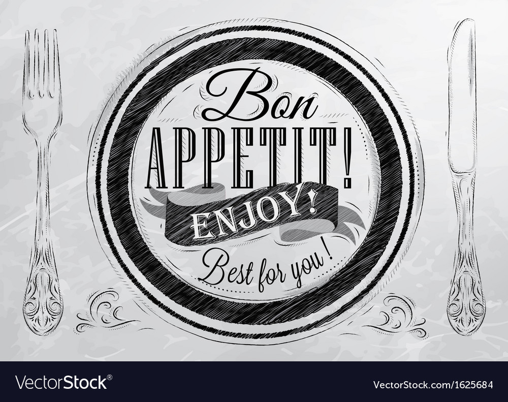 Bon appetit coal vector | Price: 1 Credit (USD $1)