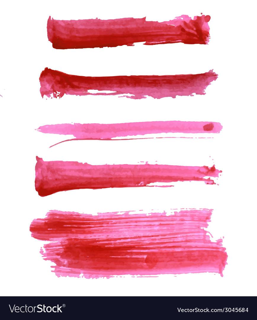 Colorful watercolor brush strokes vector | Price: 1 Credit (USD $1)