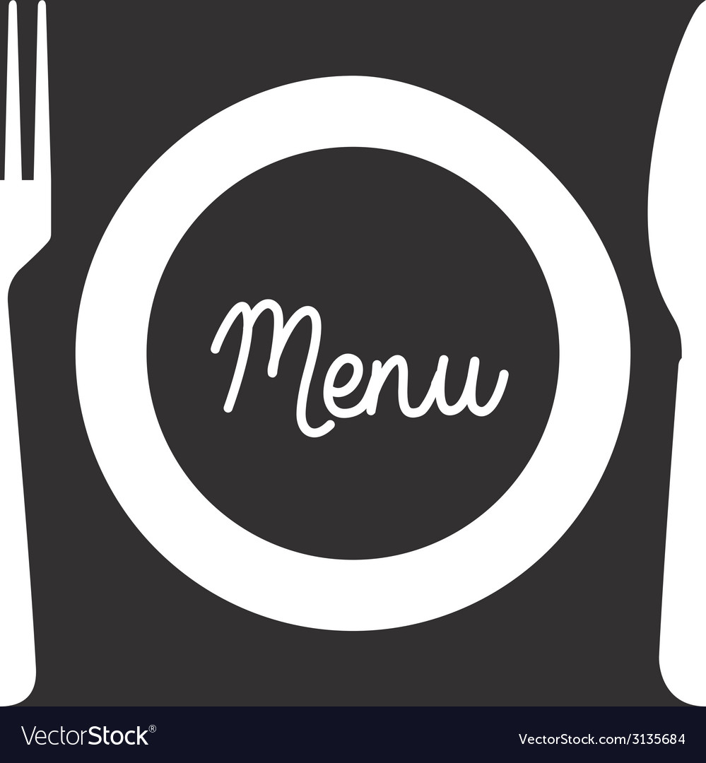 Cutlery menu design vector | Price: 1 Credit (USD $1)