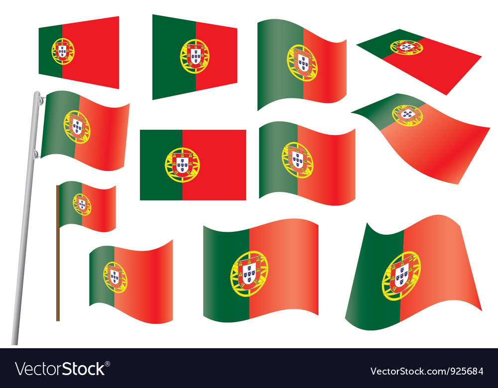 Flag of portugal vector | Price: 1 Credit (USD $1)