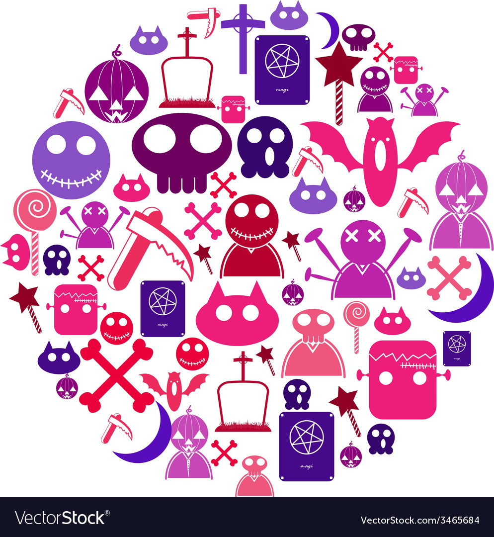 Halloween icon circle vector | Price: 1 Credit (USD $1)