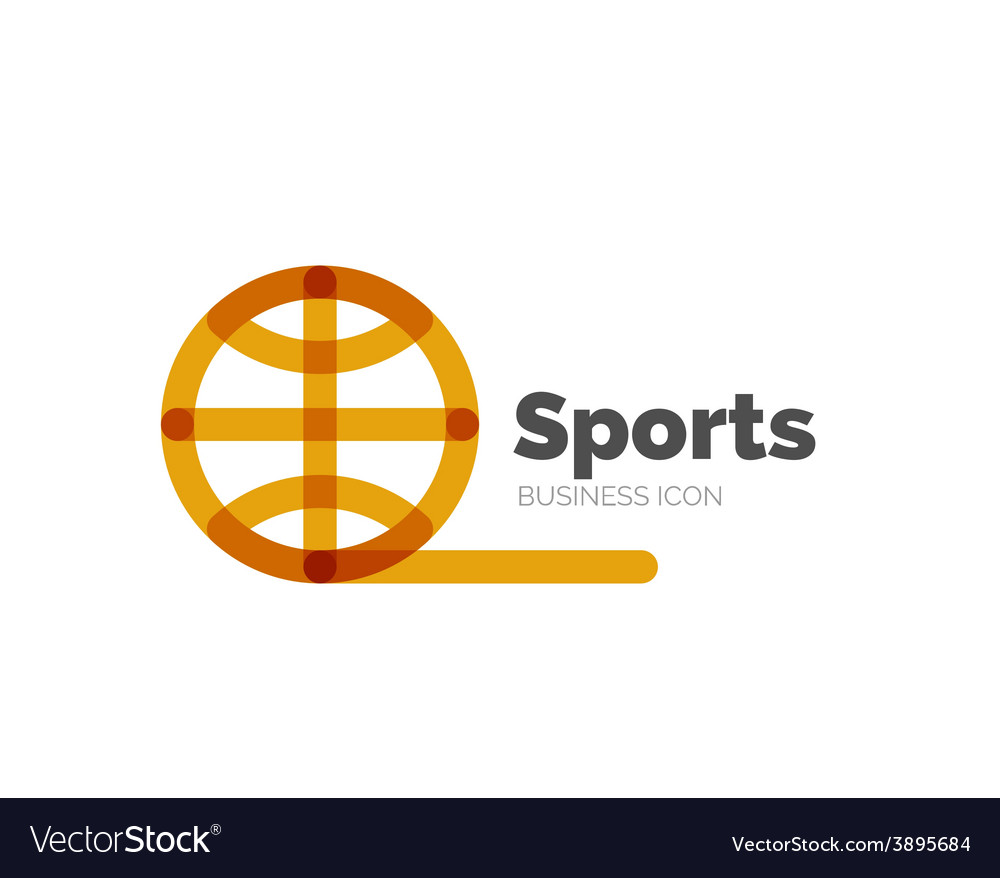 Line minimal design logo ball sports vector | Price: 1 Credit (USD $1)