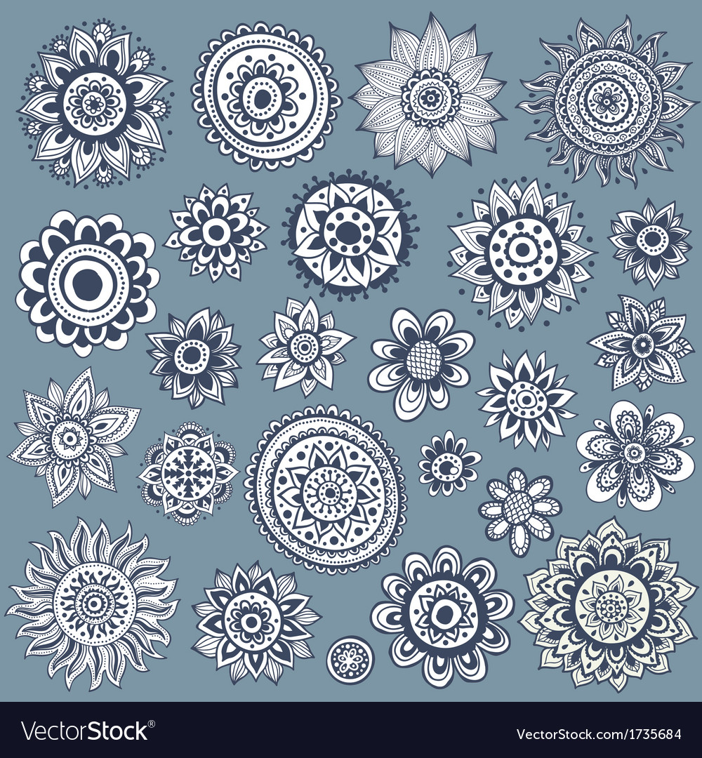 Set of beautiful ornaments vector | Price: 1 Credit (USD $1)
