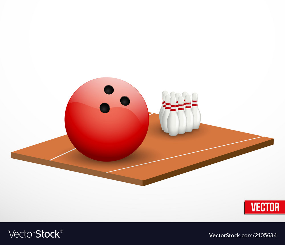 Symbol of a bowling game and field vector | Price: 1 Credit (USD $1)