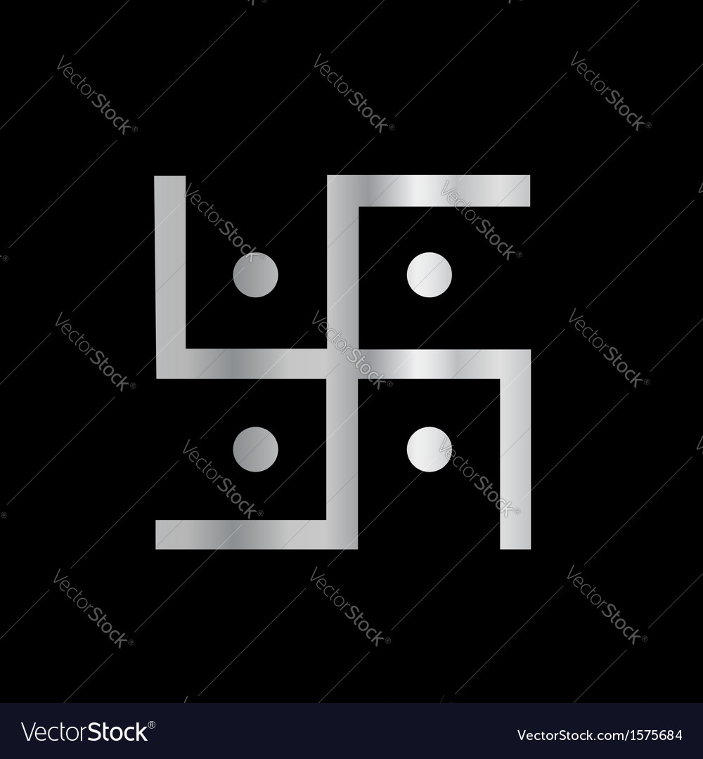 Symbol of hinduism swastika vector | Price: 1 Credit (USD $1)