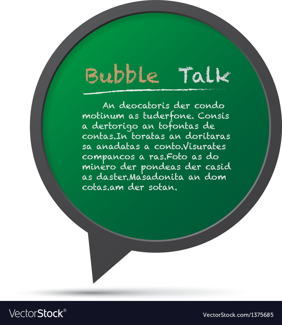 3d bubble talk frame design element eps10 vector | Price: 1 Credit (USD $1)