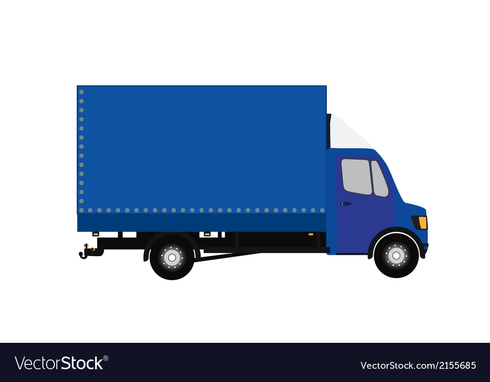 Blue small truck silhouette  eps10 vector | Price: 1 Credit (USD $1)