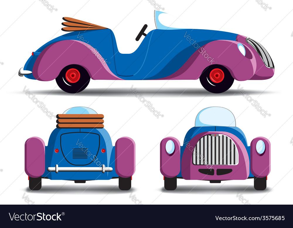 Cartoon purple car vector | Price: 1 Credit (USD $1)