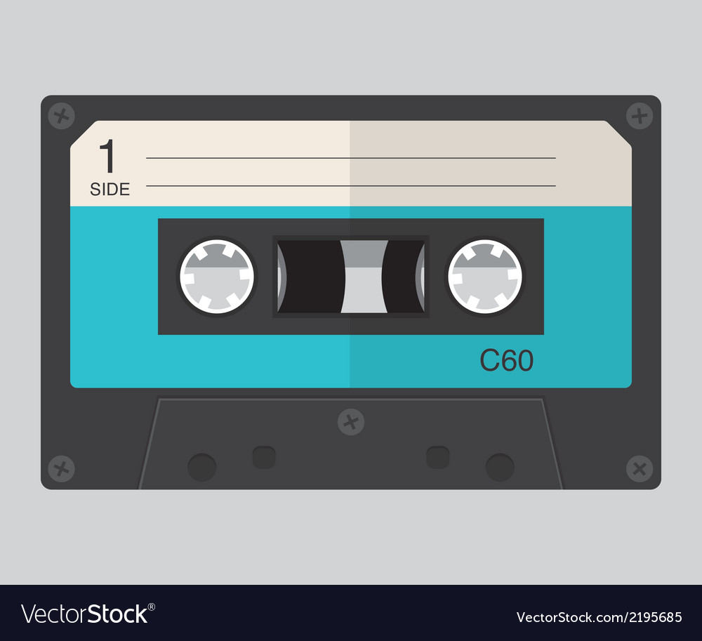Cassette audio flat design vector | Price: 1 Credit (USD $1)