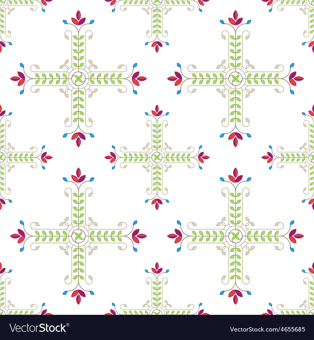 Elegant floral pattern with leafs and flowers vector | Price: 1 Credit (USD $1)