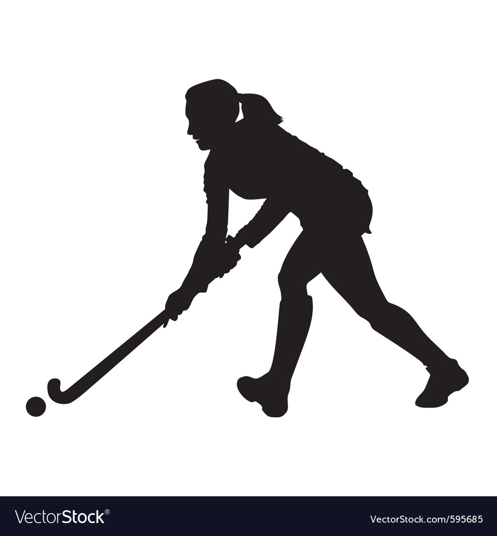 Field hockey player vector | Price: 1 Credit (USD $1)