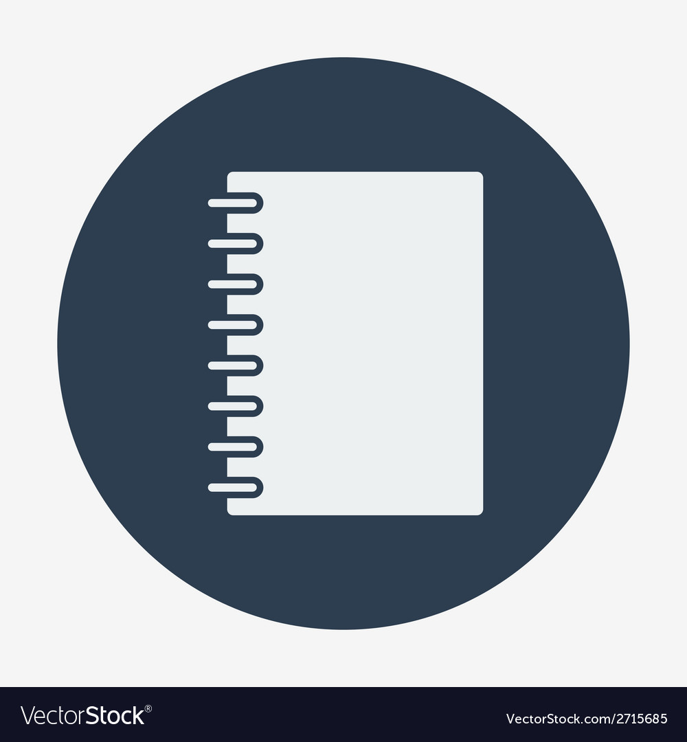 Flat style icon notebook education and science vector | Price: 1 Credit (USD $1)