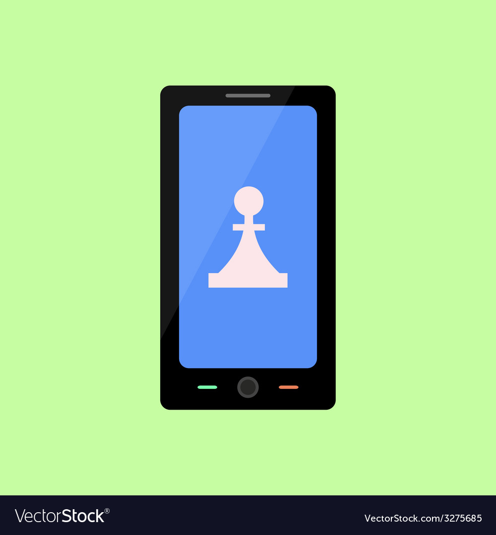 Flat style smart phone with game icon vector | Price: 1 Credit (USD $1)