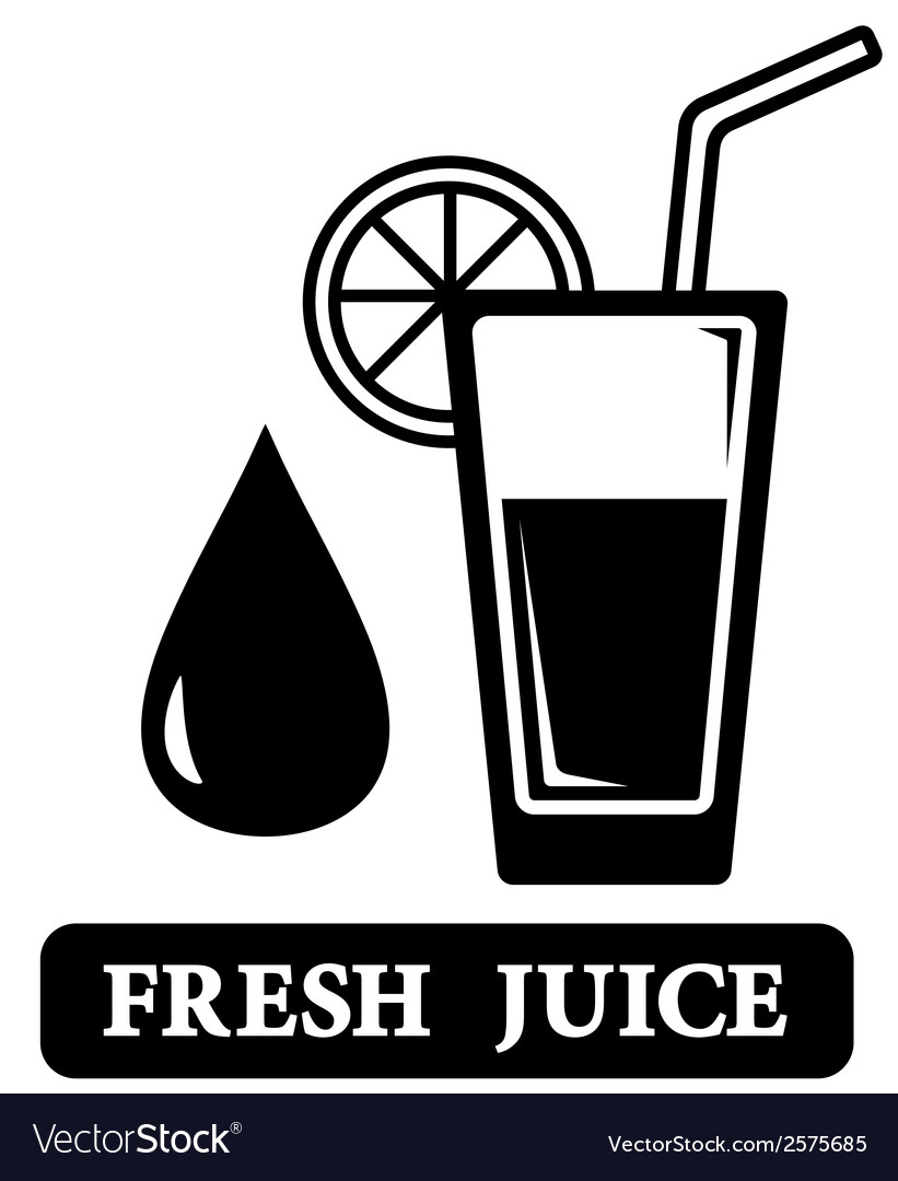 Fresh juice icon vector | Price: 1 Credit (USD $1)
