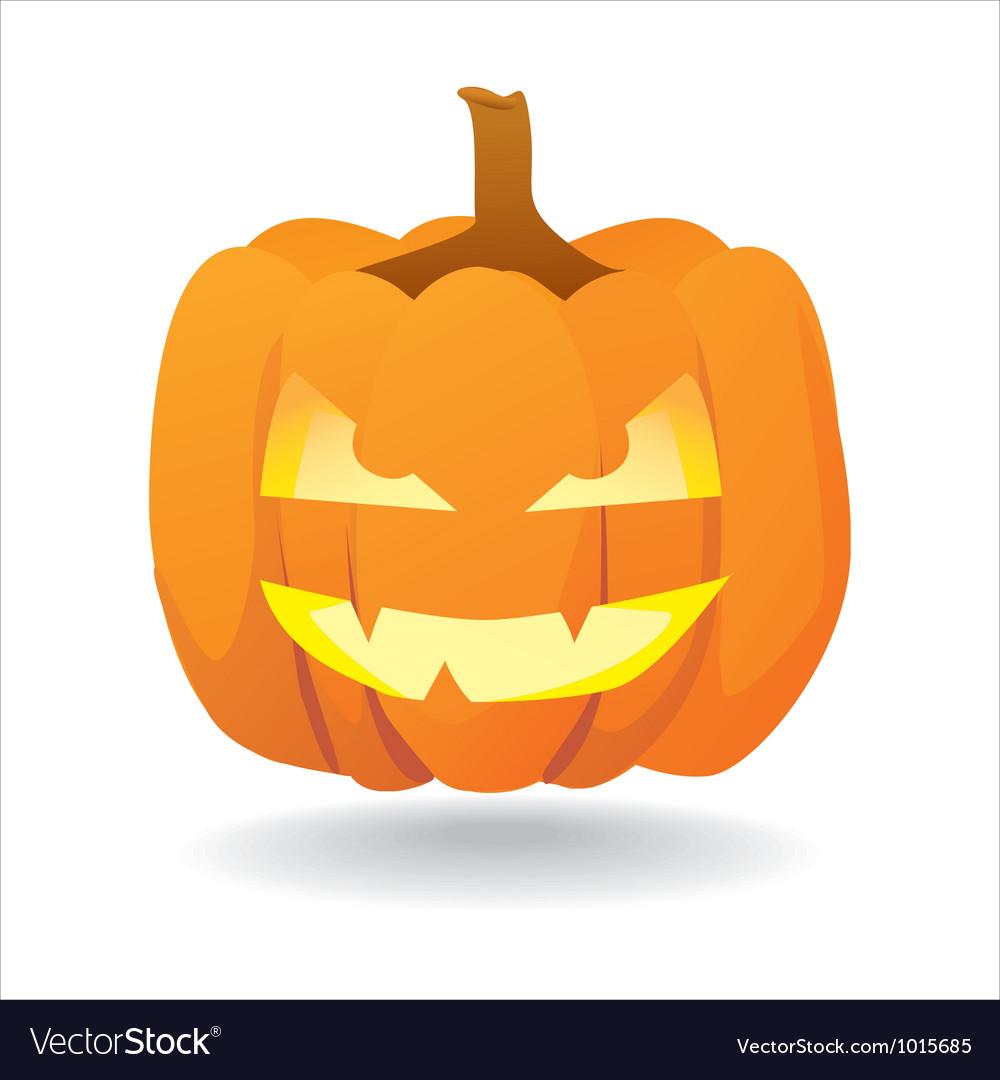 Halloween smiling pumpkin vector | Price: 1 Credit (USD $1)