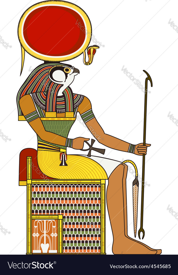 Horus isolated figure of ancient egypt god vector | Price: 1 Credit (USD $1)