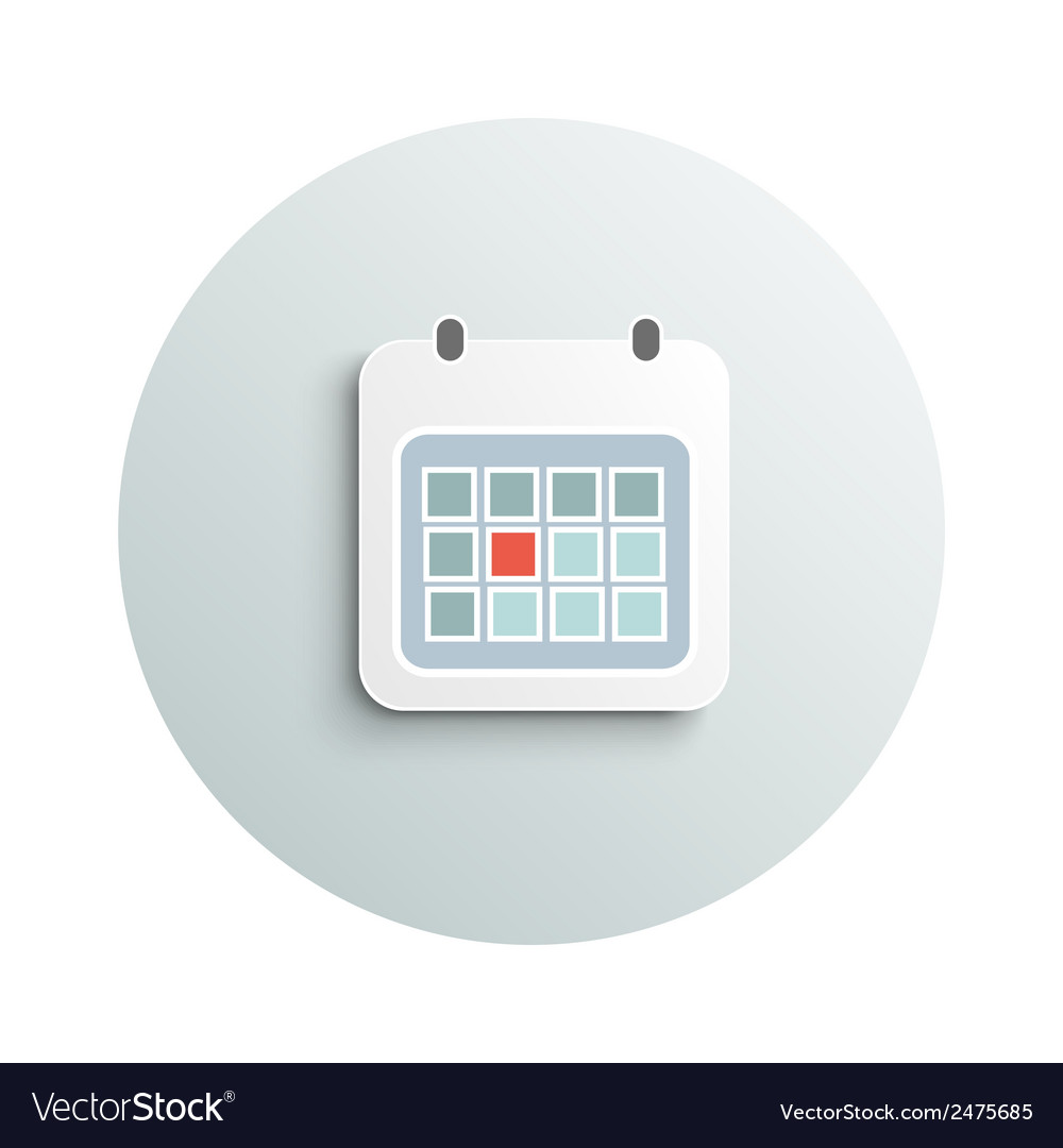 Modern calendar business concept vector | Price: 1 Credit (USD $1)